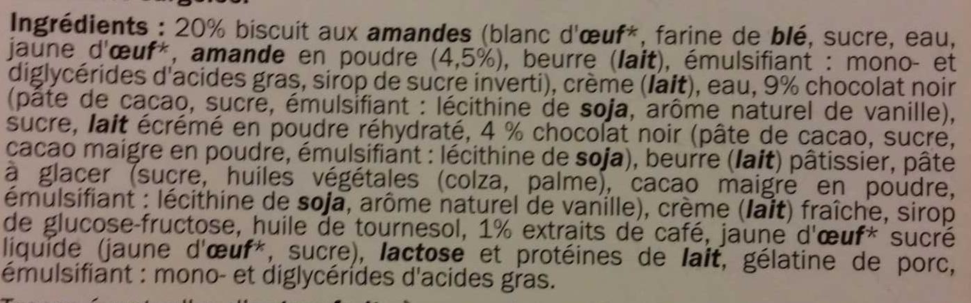 Opéra - Ingredients