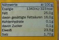 Dänischer Sanebel - Voedingswaarden - de