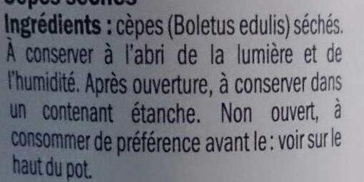 Cèpes - Ingredients