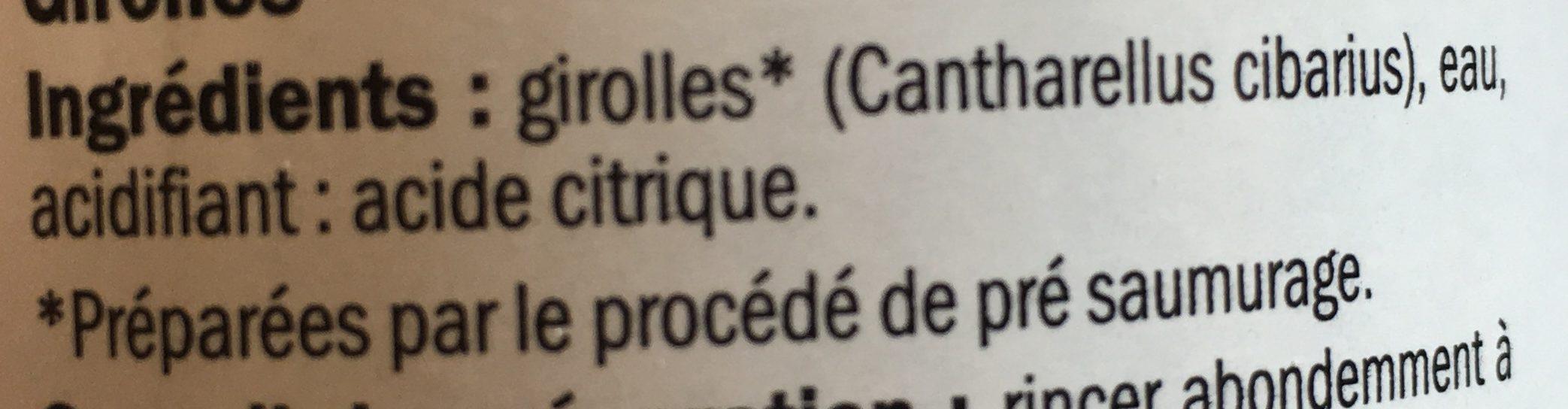 Girolles Deluxe Lidl - Ingrediënten - fr