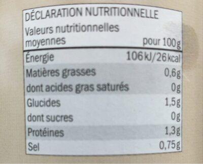 Girolles Deluxe Lidl - Voedingswaarden - fr