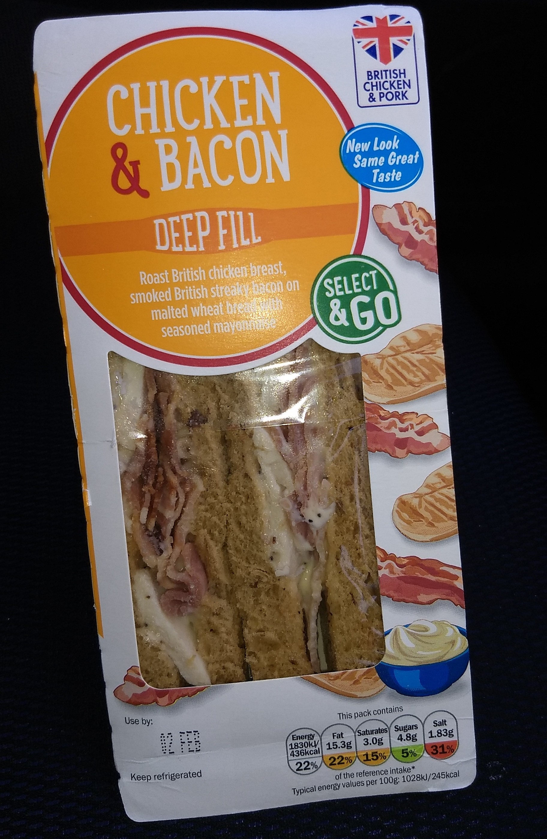 Lidl chicken and bacon sandwich - Product