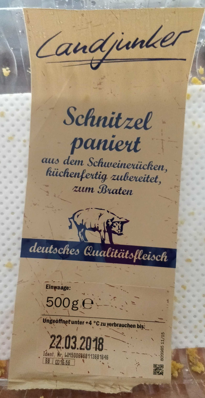 Schnitzel paniert - Produkt - de