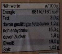 Schnitzel paniert - Nährwertangaben - de