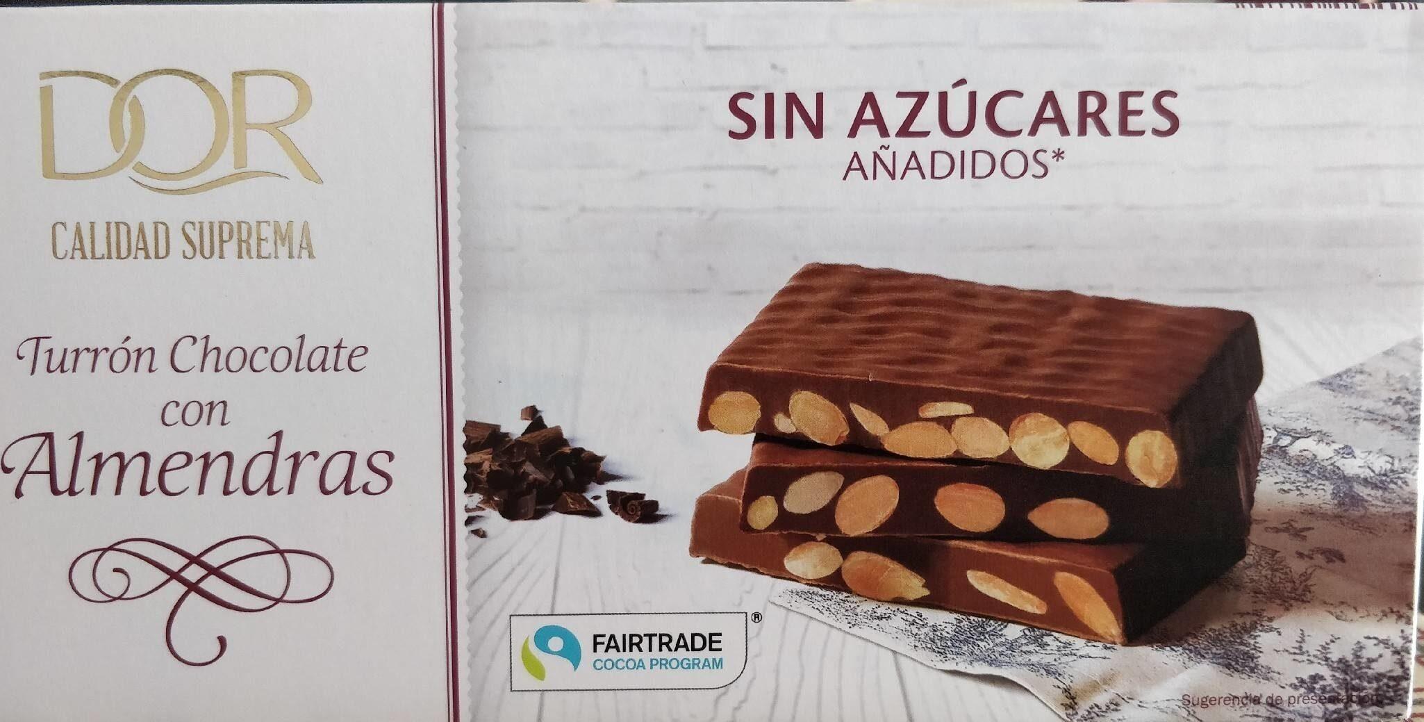 Turron de chocolate con almendras - Produit