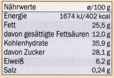 Moelleux au chocolat - Nutrition facts - de