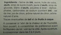 Rousquilles - Ingrédients - fr