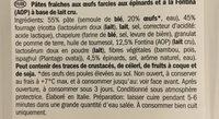 Tortelloni queso y espinacas - Inhaltsstoffe - fr