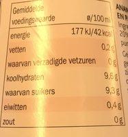 Ananas Meloen Flesje 500 ML (chef Select) Koeling - Informations nutritionnelles