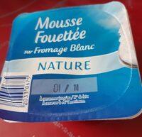 Mousse fouettée sur fromage blanc - Produit - fr