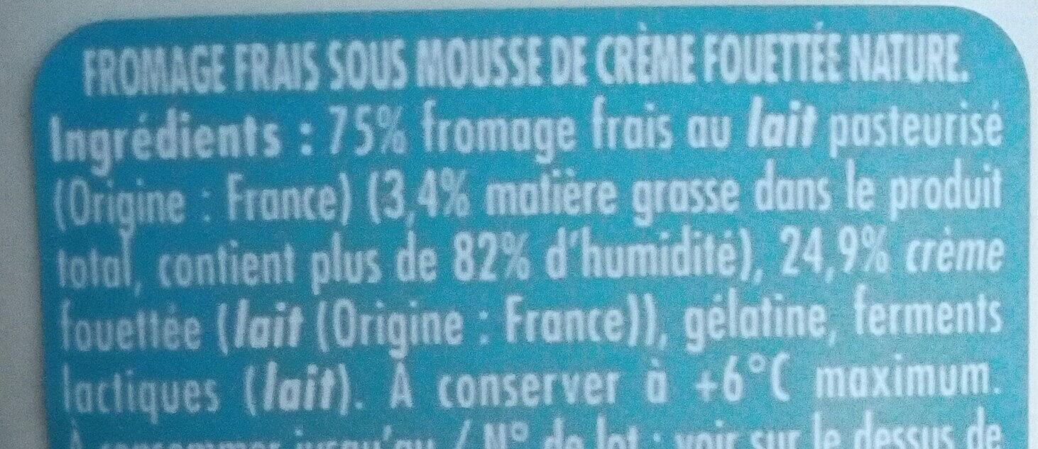 Mousse de crème fouettée - Ingrediënten - fr