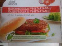Vegetarische Burgerscheiben auf Basis von Soja- und Weizeneiweiß - Producto