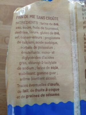 Spéciale mie - Ingrédients - fr