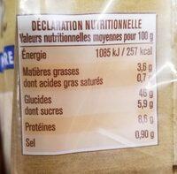 Spéciale mie - Informations nutritionnelles - fr