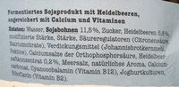 Soja Heidelbeere #foodforfuture - Ingredients - de
