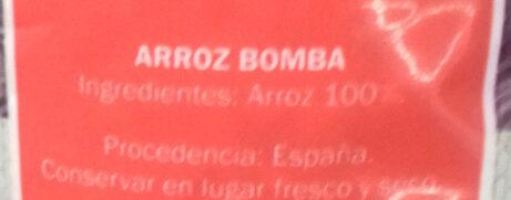 Arroz Bomba - Ingredients