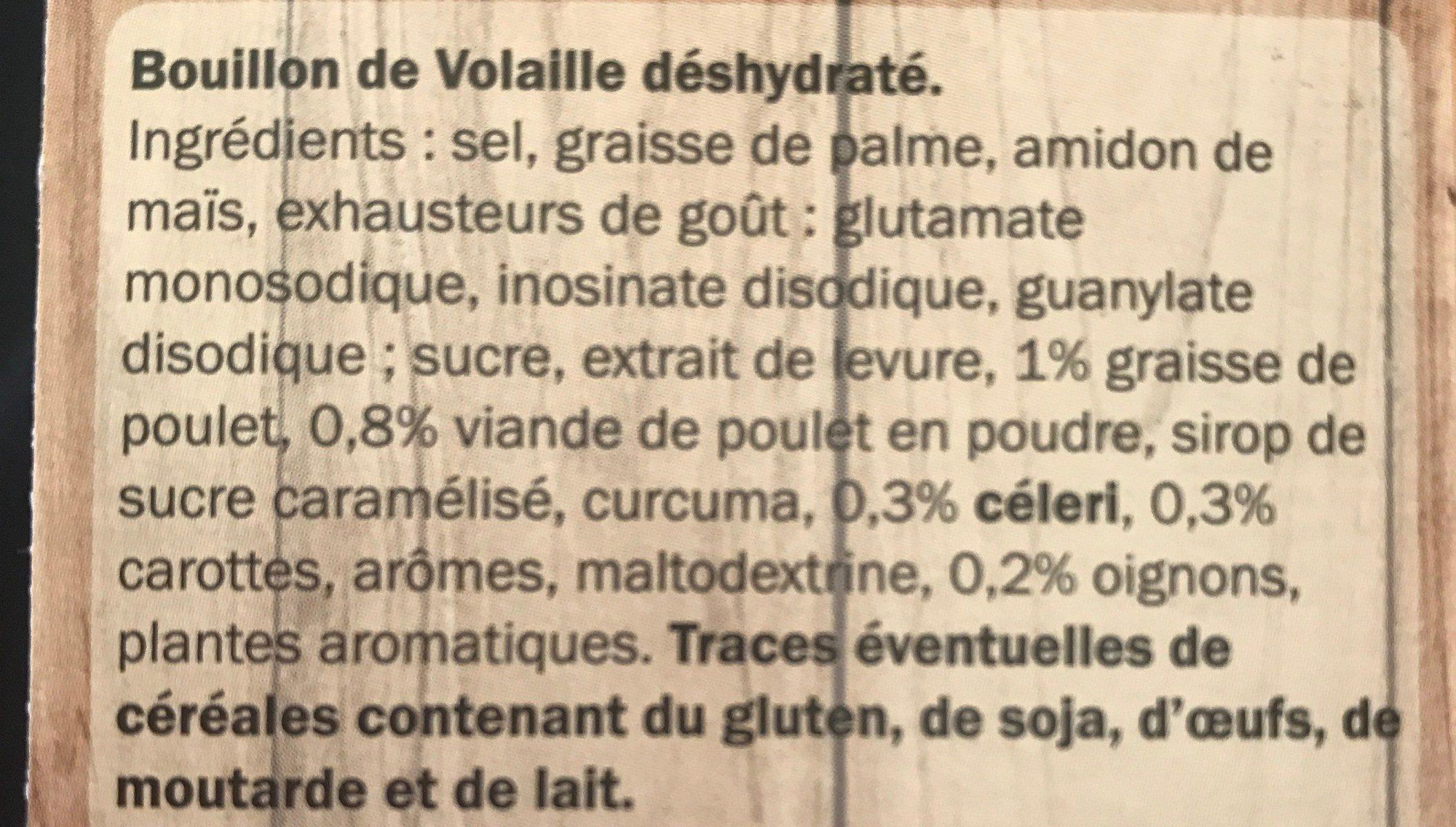 Bouillon de volaille - Ingrédients - fr
