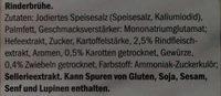 Kania bouillon boeuf - Ingredients