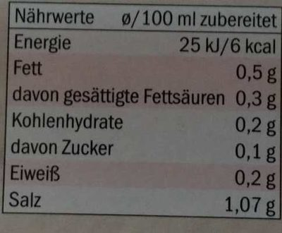 Kania bouillon boeuf - Nutrition facts