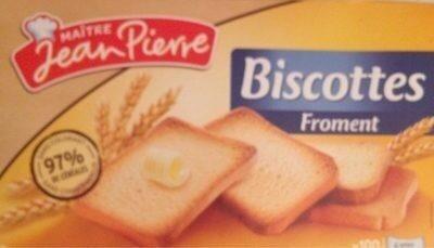 Biscottes froment - Produit - fr