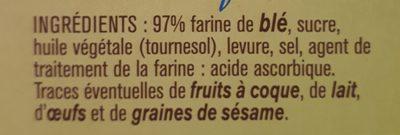 Biscottes froment - Ingrédients - fr