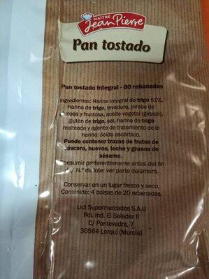 Biscottes froment - Ingredientes
