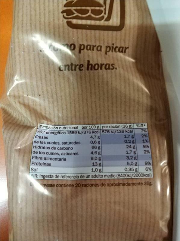 Biscottes froment - Información nutricional