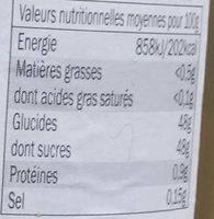 Confit de figues - Valori nutrizionali - fr