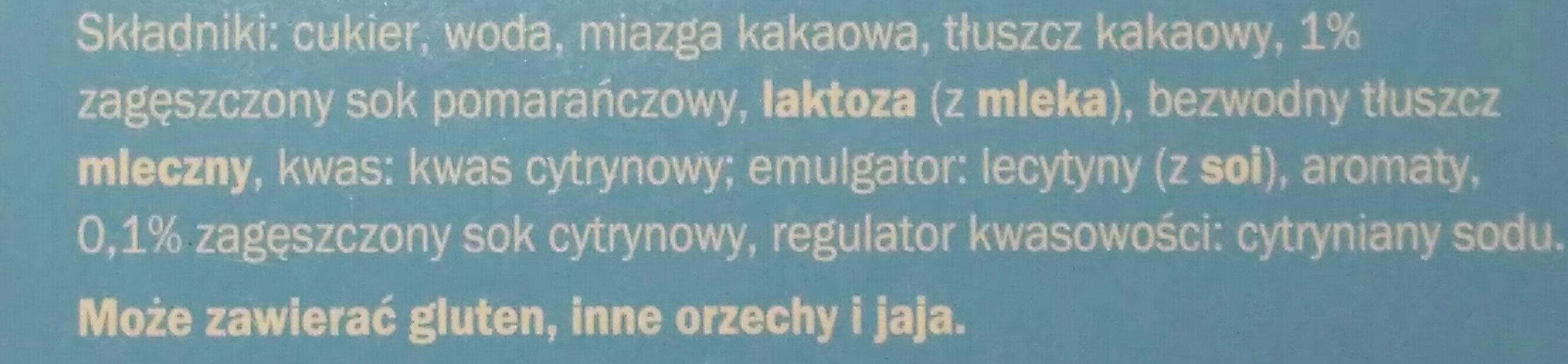 czekoladowe paluszki - Składniki - pl