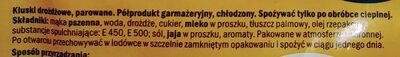Kluski drożdżowe - Składniki - pl