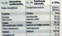 Tiramisu - Informations nutritionnelles - fr