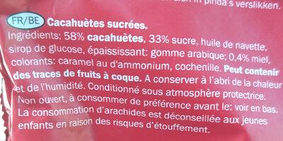 Sugar Peanuts - Ingredients - fr