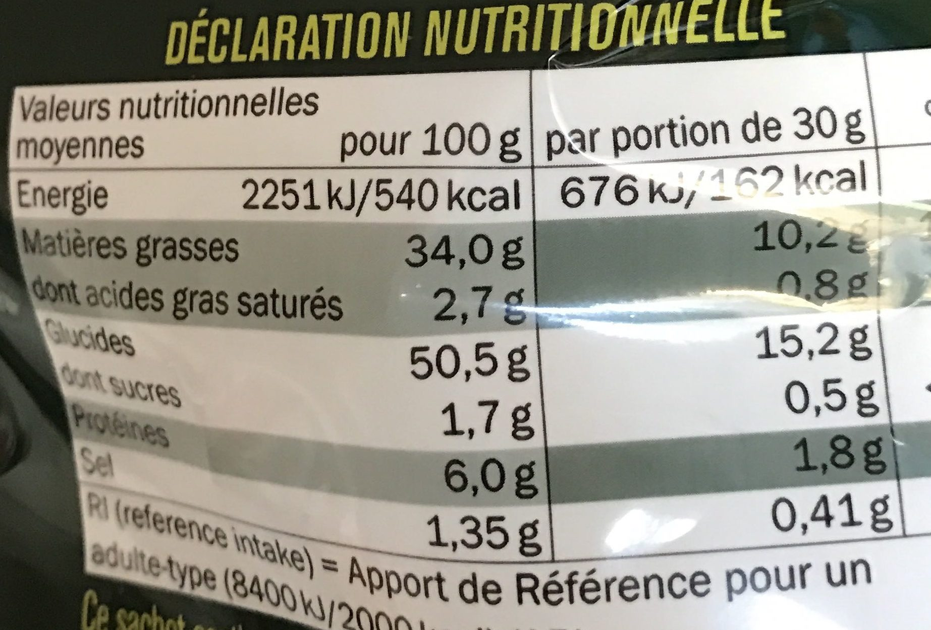 Saveur Bolognaise - Nutrition facts - fr