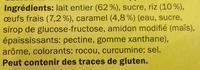 Gâteau de riz sur lit de caramel - Ingredients - fr