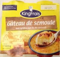 Gâteau de semoule aux raisins sur lit de caramel - Product - fr