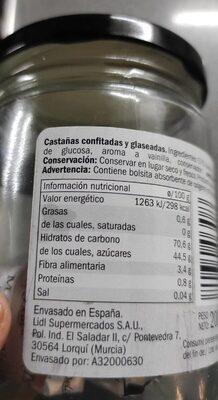Marrón glasé - Nutrition facts - es