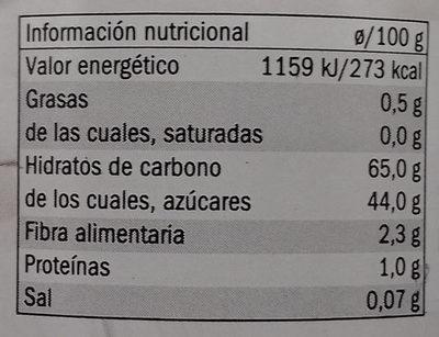 Marron glacé - Información nutricional