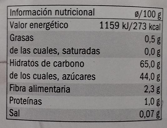 Marron glacé - Información nutricional - es
