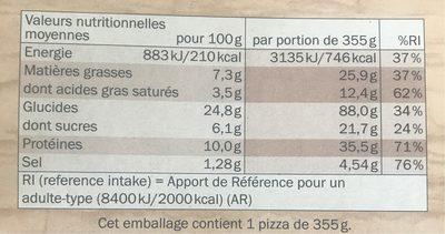 Pizza bolognaise - Nutrition facts