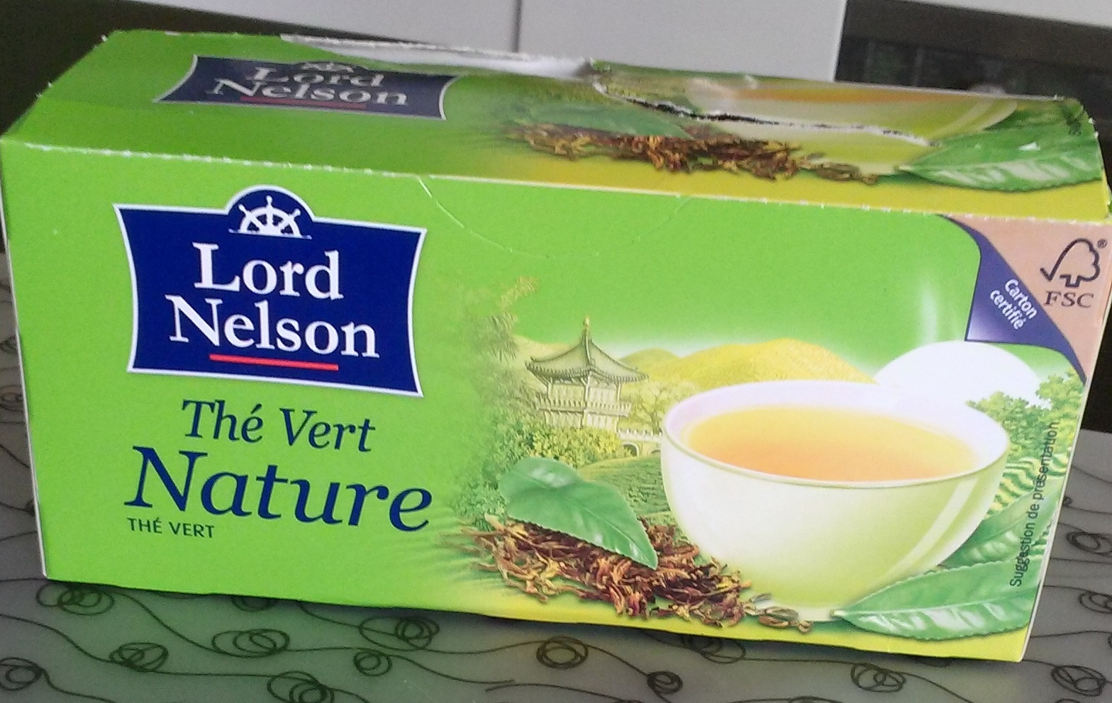 Thé Vert Nature Lord Nelson 25