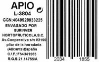 Apio - Ingredients