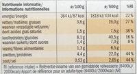 Brasserie - Voedingswaarden - fr