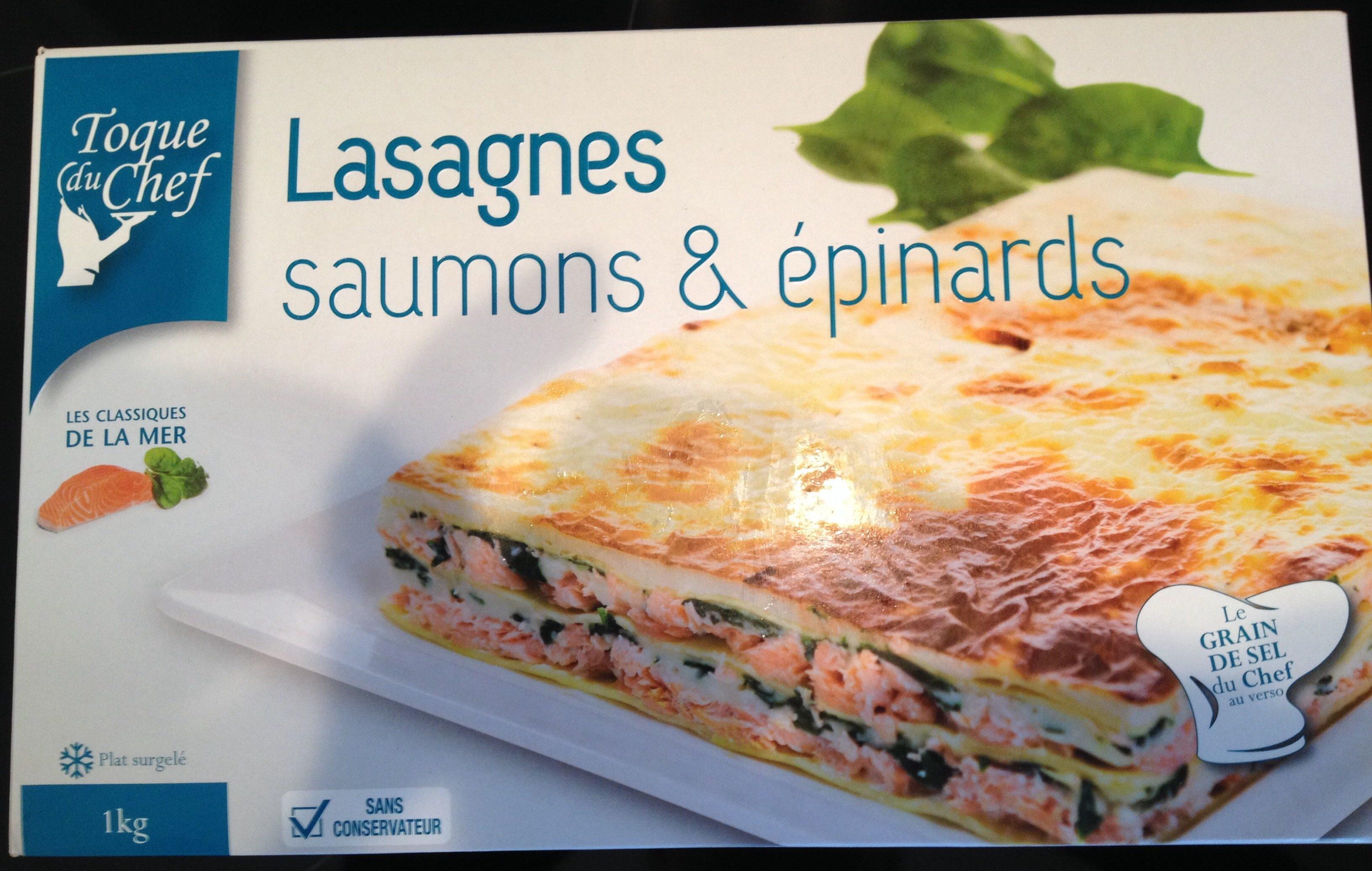 Lasagnes saumons & épinards - Produit - fr