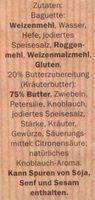 Kräuterbaguette - Inhaltsstoffe