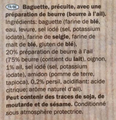 Knoblauchbutter Baguette, Knoblauch - Ingrédients