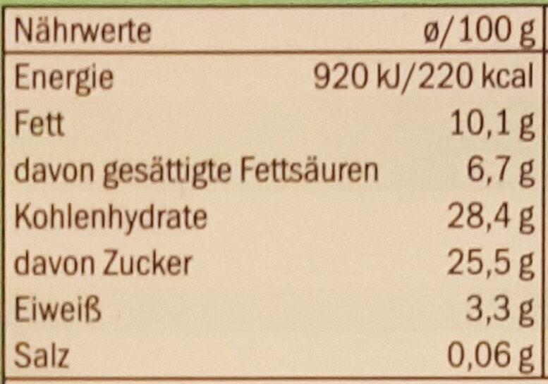 Premium Mint - Nährwertangaben - de