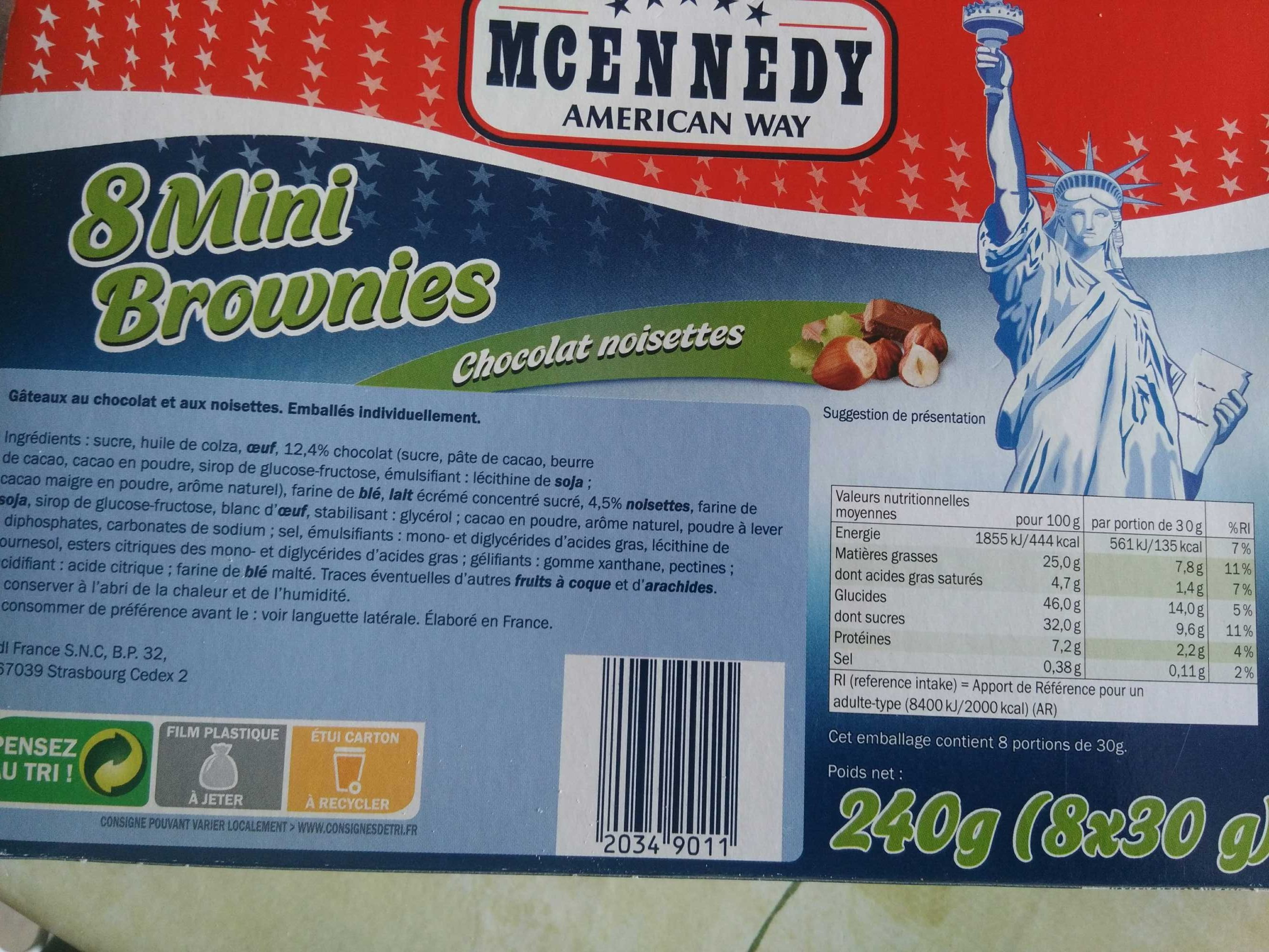 Mini Brownies Chocolat Noisettes - Produit