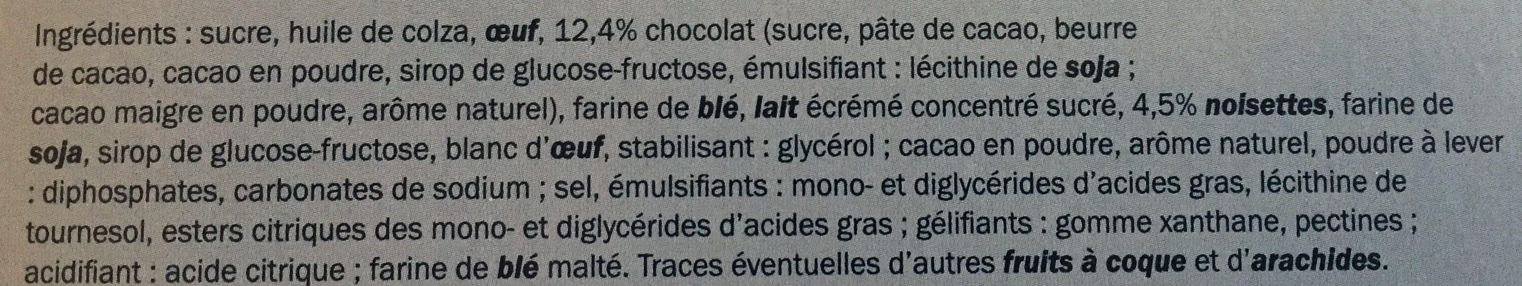 Mini Brownies Chocolat Noisettes - Ingrédients