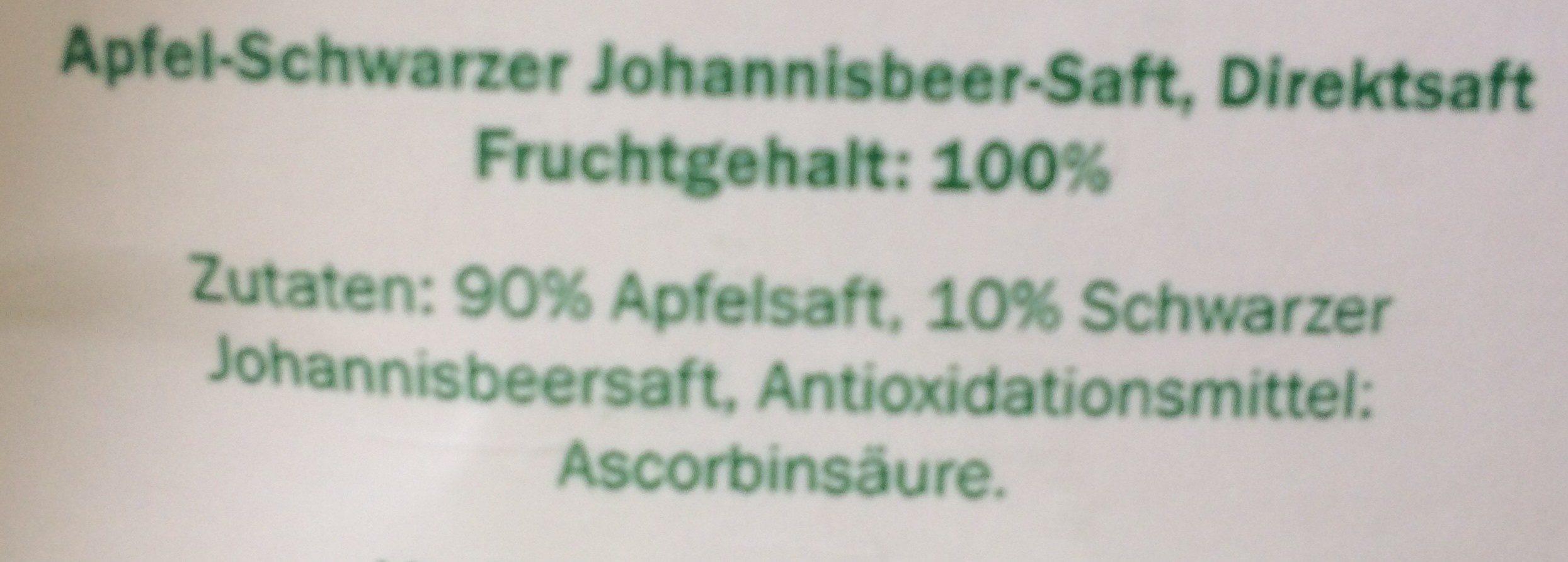 Apfel-Johannisbeersaft - Ingrédients - fr
