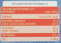Mini Brownies - Informations nutritionnelles - fr